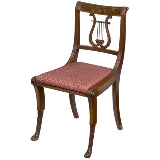 Mahogany Classical Lyre Side Chair