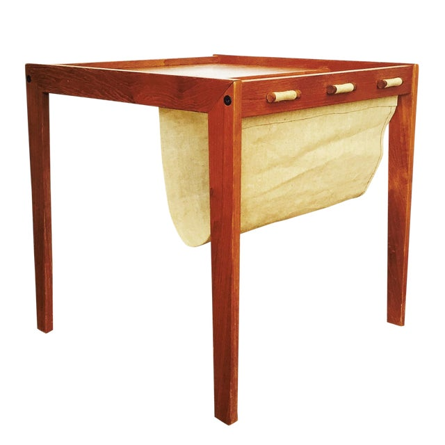 Mid Century Side Table With Magazine Rack - Image 1 of 6