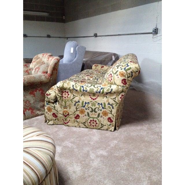 Portuguese Tapestry Uphulsyered Willis Sofa - Image 3 of 6