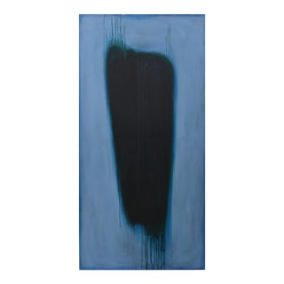 'Blue Torso' Abstract Painting