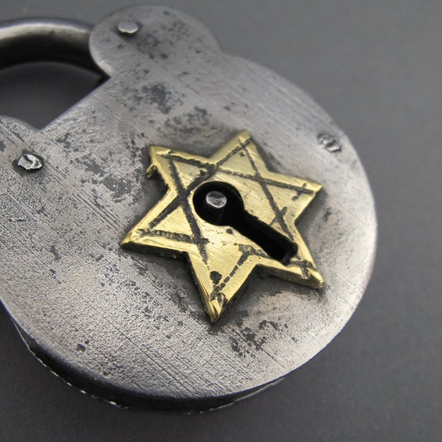 Steel & Brass Antique Padlock From England - Image 7 of 7