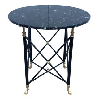 1960s French Side Table with Marble Top