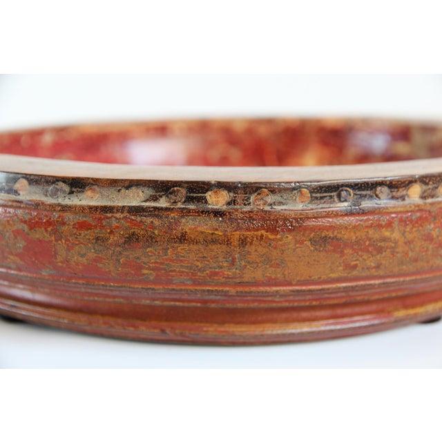 Old Wood Tambourine Bowl - Image 4 of 4