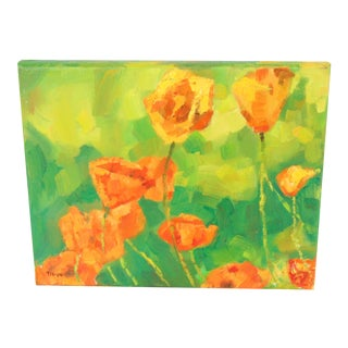 """""""Golden Poppies"""" Oil Painting"""