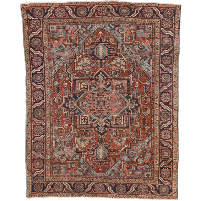 "Antique Persian Heriz Rug - 8' x 10'1"" - Image 6 of 7"