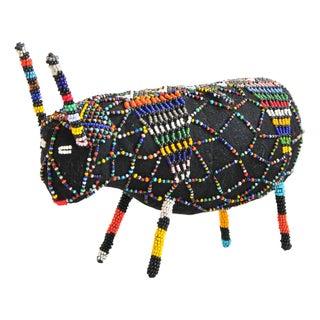 African Beaded Wool Bull