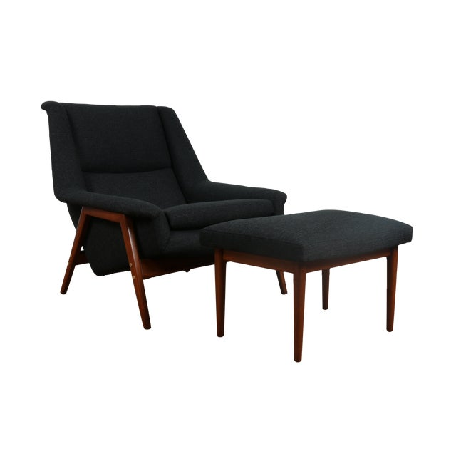 Image of Dux Chair and Ottoman by Folke Ohlsson