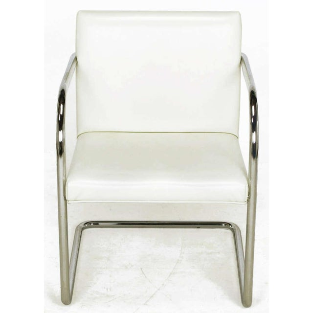 Four Thonet White & Chrome Cantilever Dining Chairs - Image 2 of 9