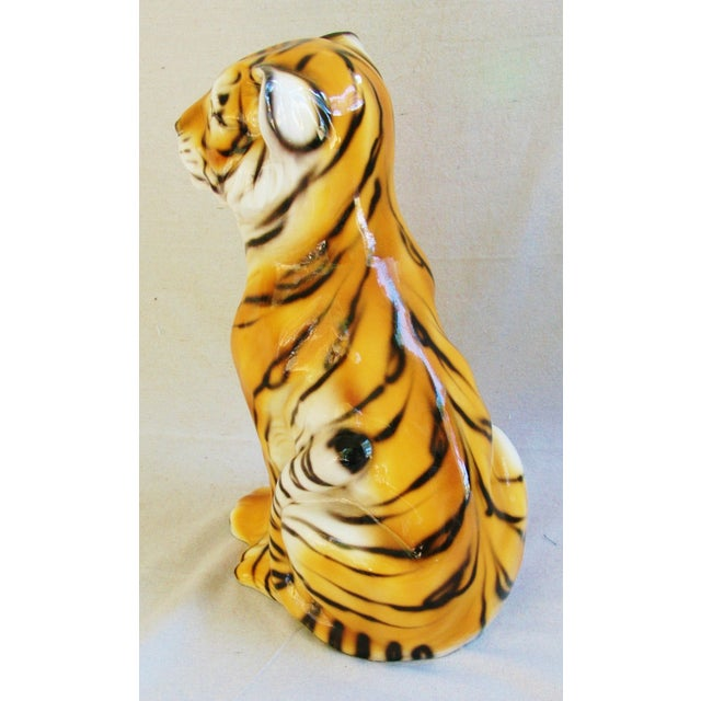 Large Mid-Century Porcelain Italian Tiger - Image 5 of 11