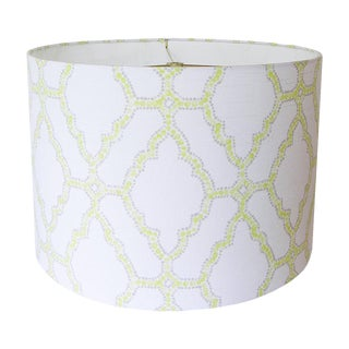 Geometric Spring Green Drum Lamp Shade