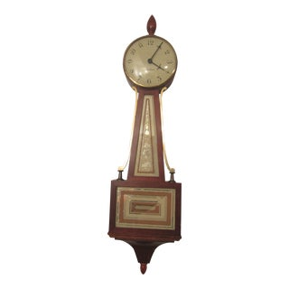 Seth Thomas Mid-Century Modern Wall Wind Clock