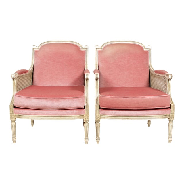 1930s Louis XVI Style Bergere Chairs - A Pair - Image 1 of 10