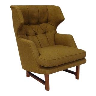 Original Edward Wormley for Dunbar Modernist Wingback Lounge Chair