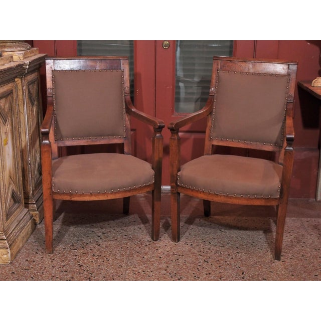 19th Century Directoire Style Armchairs - Pair - Image 2 of 6