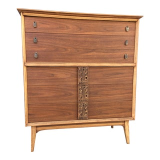Mid-Century Highboy Mayan Dresser by Basset
