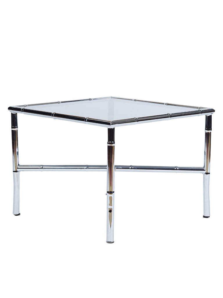 Glamorous Chrome Hollywood Regency Side Table