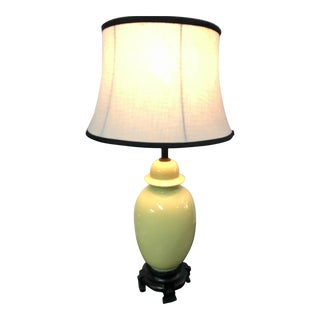 Lime Green Chinoiserie Ginger Jar Lamp