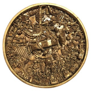 Toy Art Medallion in Gold by J. Santamar