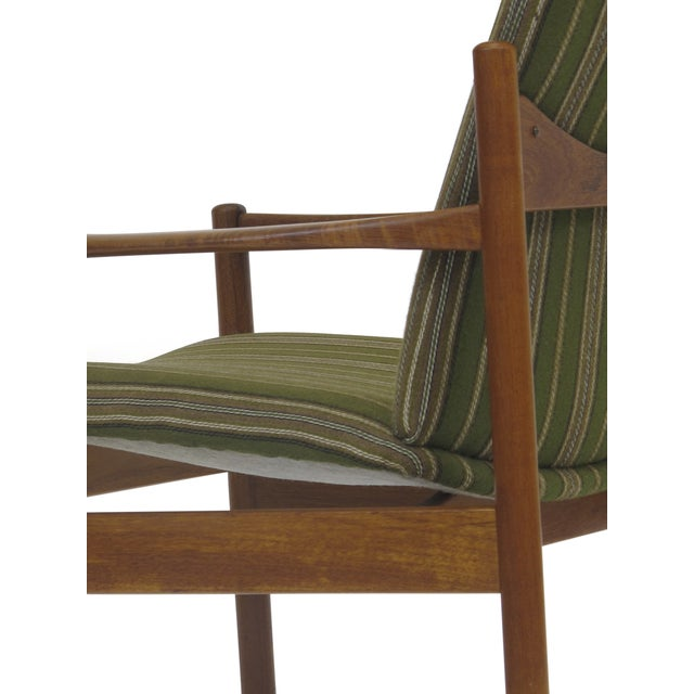 Image of Mid-Century Danish Teak High-Back Lounge Chair