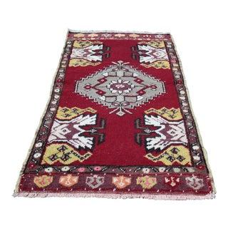 """Beautiful Turkish Anatolian Carpet -- 1'8"""" X 3'1"""""""