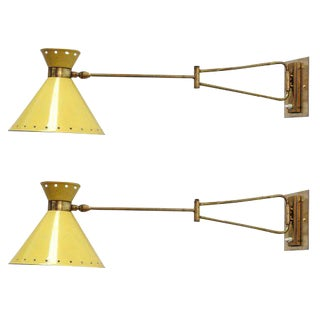 Lunel French Swing Arm Sconces - A Pair
