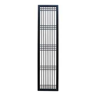 Tall Black Lacquer Wood Window Door Panel Partition Screen