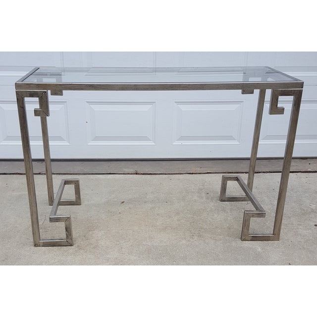 Greek Key Console Table - Image 2 of 4