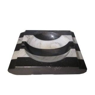 Vintage Black & White Marble Dish