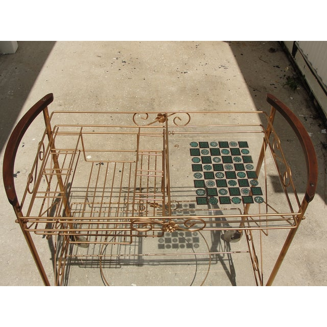 1950s Atomic-Style Rolling Bar Cart - Image 4 of 10