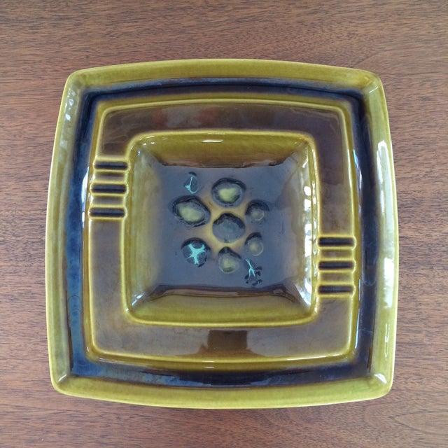 Mid-Century Glazed Ceramic Ashtray - Image 2 of 9
