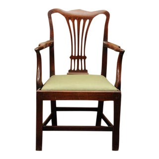Georgian Mahogany Armchair with drop seat
