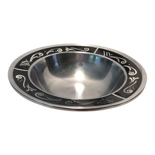 Lenox Metal And Glass Spyro Serving Bowl