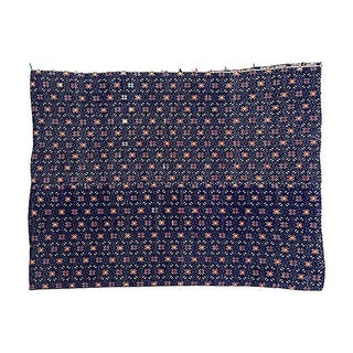 Indigo Tribal Embroidered Marriage Quilt Textile