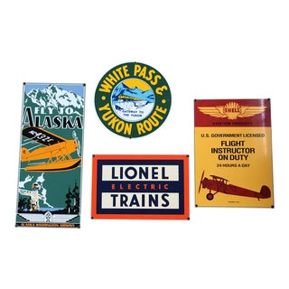 Ande Rooney Vintage Tin Signs - Set of 4