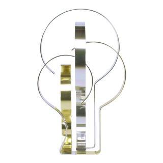 Dan Murphy (American 20th C) Gold & Clear Anodized Aluminum Sculpture