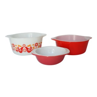 Mid-Century Pyrex Bowls - Set of 3