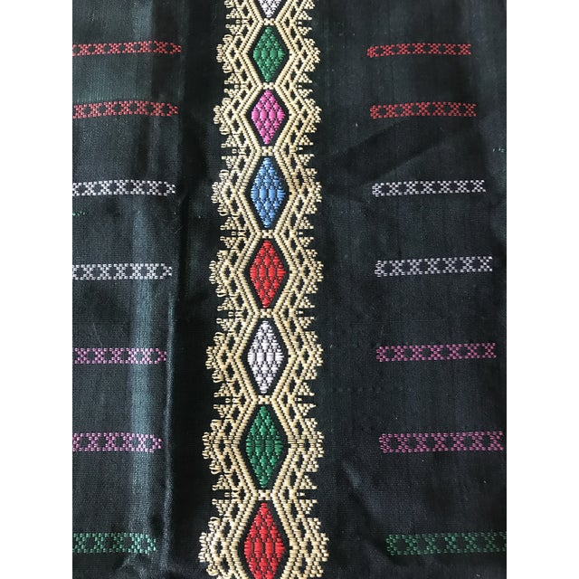 Emerald Green & Yellow Embroidered Textile - Image 8 of 10