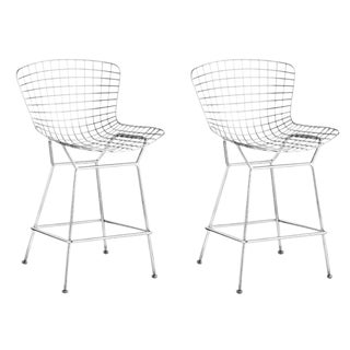 Chrome Wire Counter Chair - a Pair