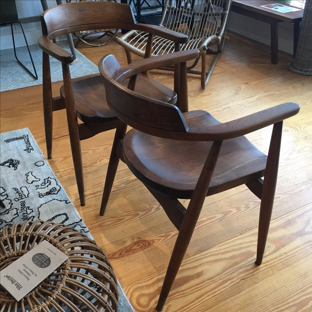 Mid-Century Captain's Chairs - A Pair - Image 10 of 10