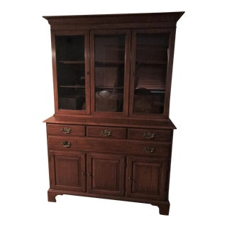 Henkel Harris Queen Anne Style China Cabinet / Hutch