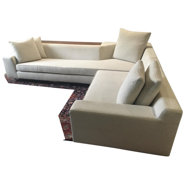 Vioski Shea Sectional With Walnut Console - Image 2 of 13