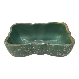 Vintage Shafer 23k Gold Trim Bisque Bowl