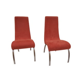 Kagan Style Tall Back Dining Chairs - Set of 10