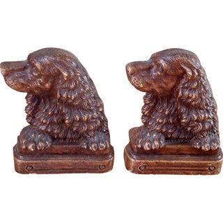 Irish Setter Bookends - A Pair
