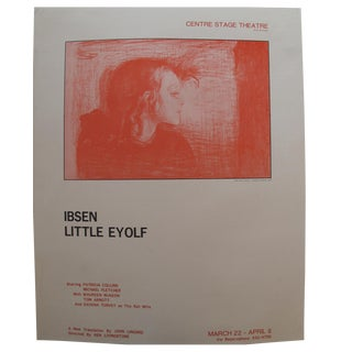 1978 Little Eyolf Centre Stage Theatre Poster - Henrik Ibsen