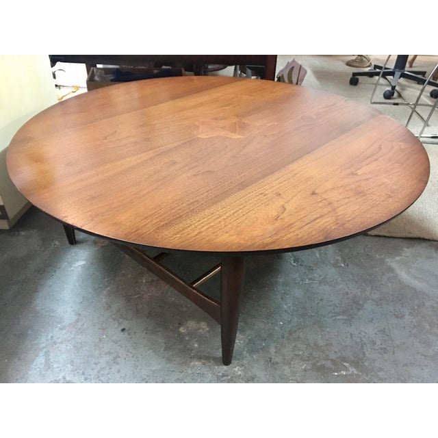 Mid-Century Danish Round Coffee Table - Image 5 of 8