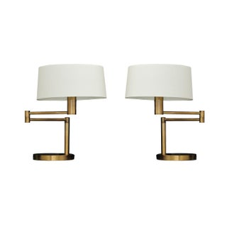 Ralph Lauren Hinge Arm Table Lamps - Pair
