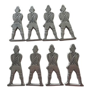 Vintage Aluminum Soldier Napkin Rings- Set of 8