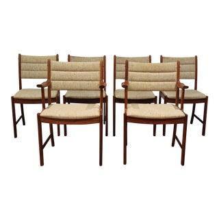 Johannes Andersen Uldum Mobelfabrik Mid-Century Scandinavian Chairs - Set of 6