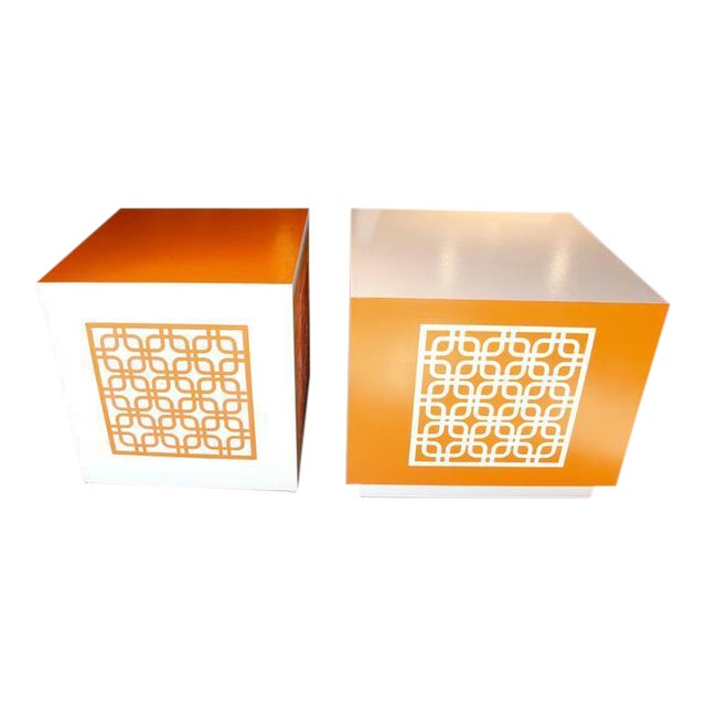 Image of Hand-Painted Cubes or End Tables